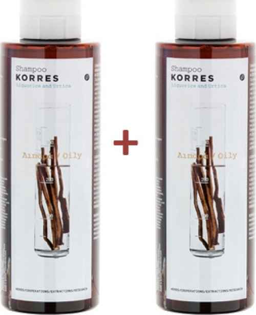 Korres Σαμπουάν Για Λιπαρά Μαλλιά Με Γλυκύρριζα & Τσουκνίδα 250ml & 250ml