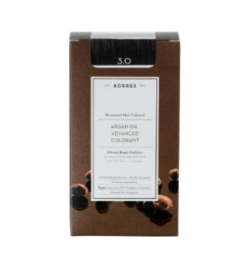 Korres Argan Oil 3.0 Μόνιμη Βαφή Καστανό Σκούρο 50ml