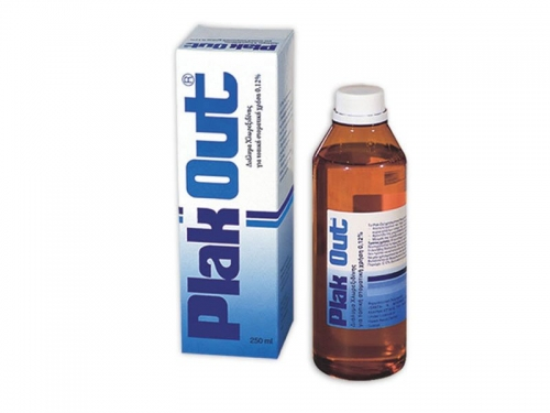Plak Out Solution 0.12%,250ml