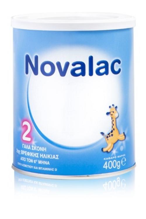 Novalac Γάλα 2 400gr Καθημερινή διατροφή για παιδιά από  6 μήνα έως τον 12 μήνα