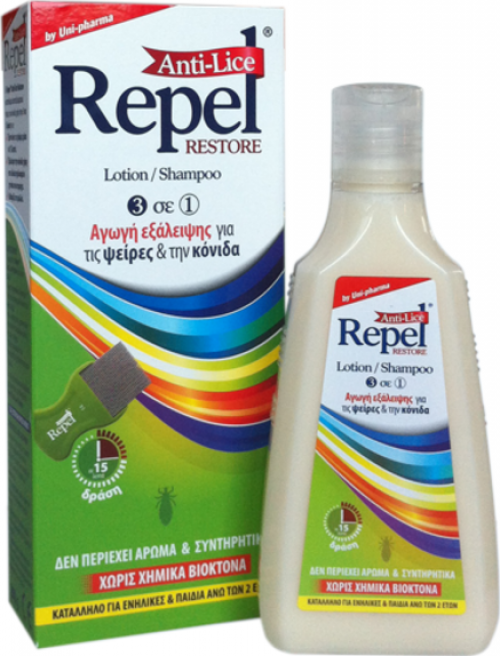 Uni-Pharma Repel Anti-lice Restore 200gr