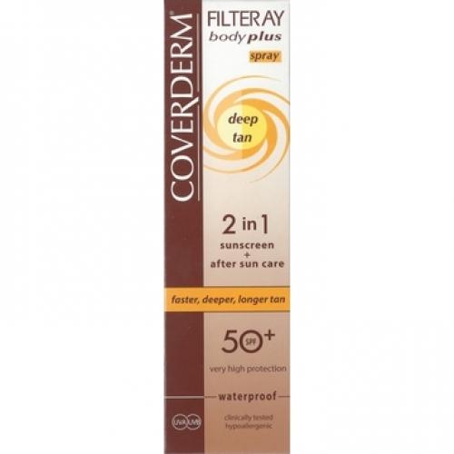 COVERDERM Filteray Body Plus Deep Tan Spray 2in1 SPF30 Αντηλιακό Σπρέι για Γρήγορο Μαύρισμα (100ml)