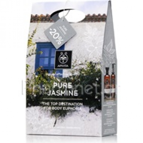 Pure Jasmine Shower Gel Αφρόλουτρο 300ml & Moisturing Body Milk Ενυδατικό Γαλάκτωμα Σώματος 200ml