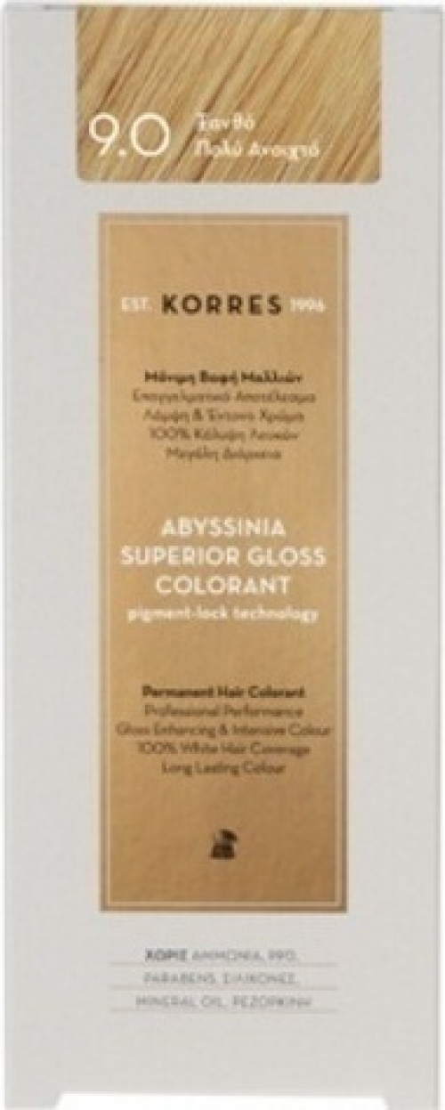 Abyssinia Superior Gloss Colorant 9.0 Ξανθό Πολύ Ανοιχτό