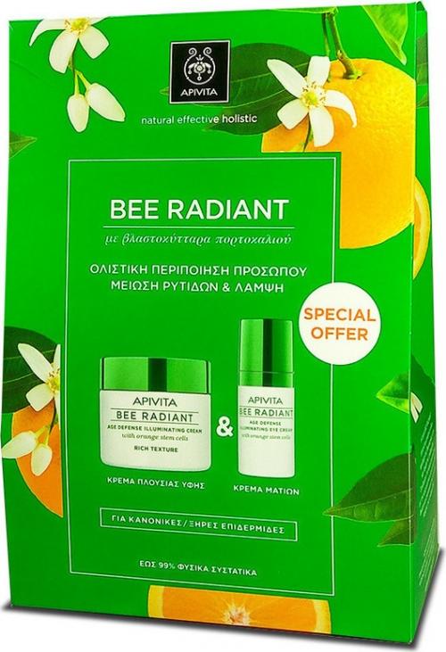 Bee Radiant Κρέμα Πλούσιας Υφής & Κρέμα Ματιών