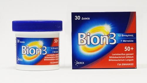 Bion 3 50+ 30 ταμπλέτες