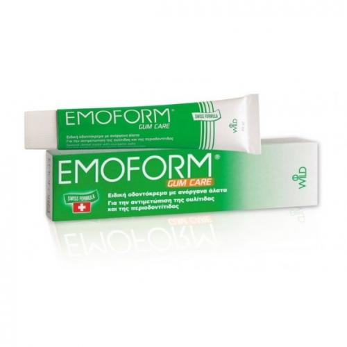 EMOFORM MINT ΠΡΑΣΙΝΟ GUM CARE 70gr,Ειδική οδοντόκρεμα με ανόργανα άλατα,αντιμετωπίζει την ουλίτιδα και την περιοδοντίτιδα.