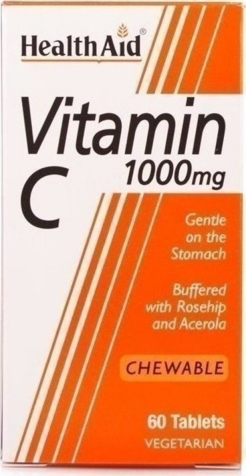 Vitamin C Chewable 1000mg with Rosehip & Acerola (μασώμενη) 30tabs