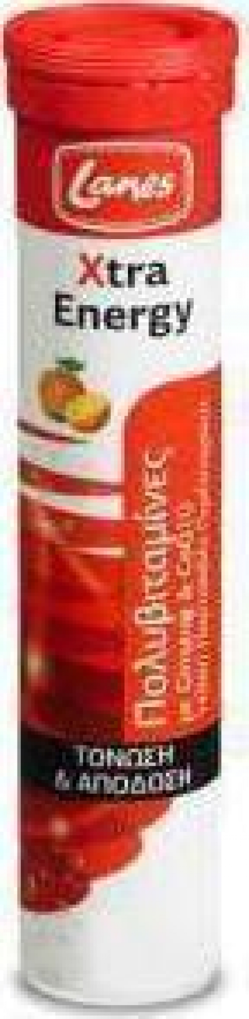 Πολυβιταμίνες Xtra Energy, 20 αναβρ. ταμπλέτες, γεύση πορτοκάλι-γκρέιπφρουτ