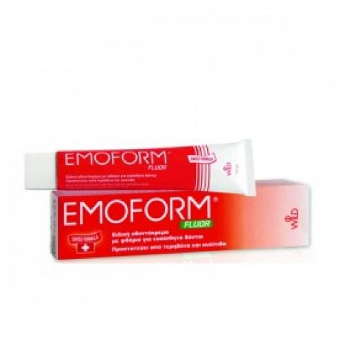 EMOFORM FLUOR ΚΟΚΙΝΟ 70GR, Με φθόριο για ευαίσθητα δόντια,προστατεύει από τερηδόνα και ουλίτιδα.