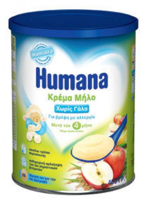 Κρέμα μήλο χωρίς γάλα για βρέφη μετά τον 4ο μήνα 400γρ