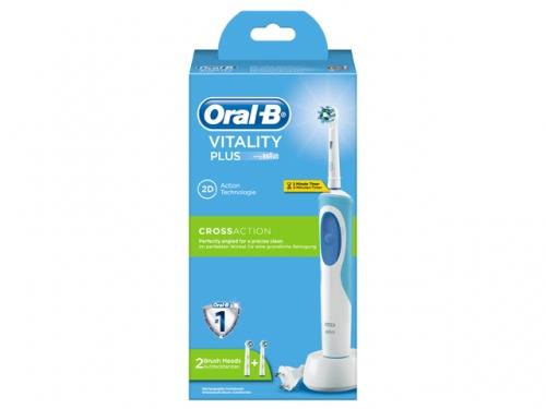 ORAL B Vitality Plus Cross Action 2D & ΔΩΡΟ 2 Ανταλλακτικές κεφαλές