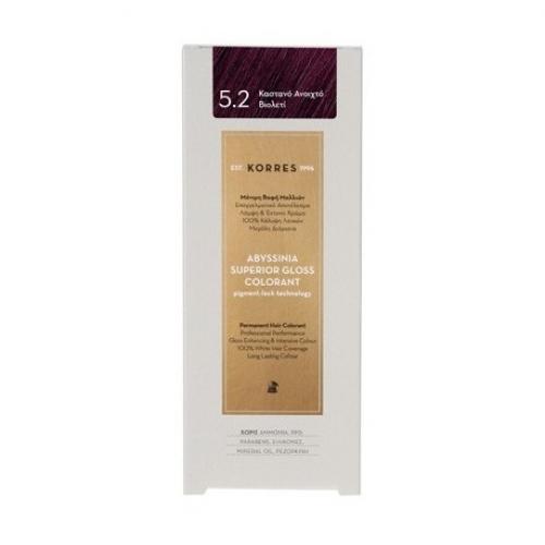 Abyssinia Superior Gloss Colorant 5.2 Καστανό Ανοιχτό Βιολετί 50ml