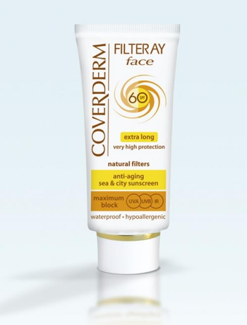 Coverderm Filteray Face SPF 60 Tinted (Light Beige), 50ml