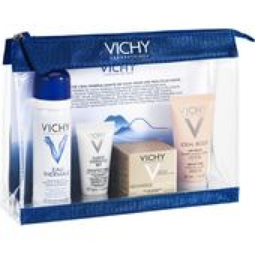 VICHY TRAVEL KIT NEOVADIOL COMLEXE SUBSTITUTIF 15ML & EAU THERMALE 50GR & PURETE THERMALE 15ML & IDEAL BODY 30ML