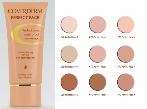 Coverderm Perfect Face Make up Νο1,30ml