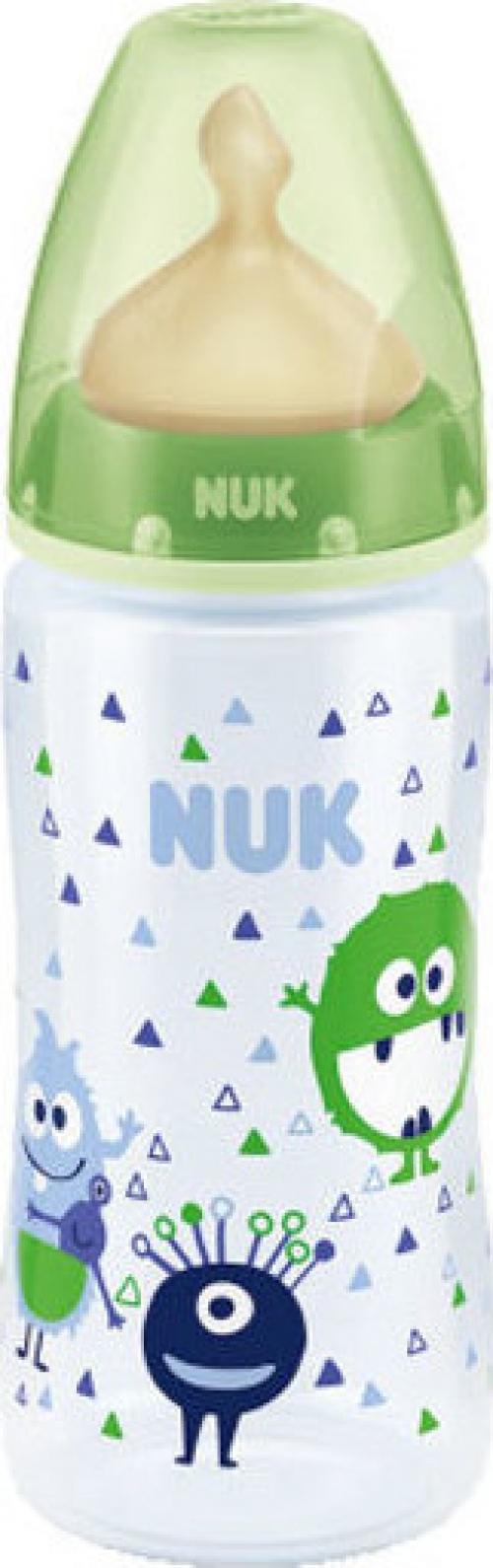 Nuk First Choice+ PP με Θηλή Latex Πράσινο Τερατάκι 300ml