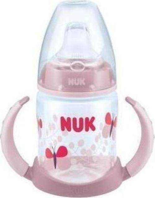 Nuk First Choice 6-18m Μπιμπερό Εκπαιδευτικό Ροζ