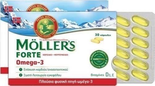Moller's Μουρουνέλαιο  Forte Omega-3 30 Κάψουλες