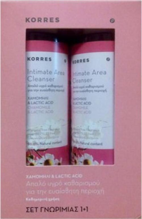 Korres Intimate Area Cleanser Σετ 1+1 Δώρο,2χ250