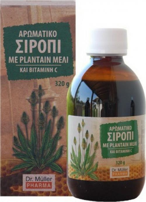 Αρωματικό Σιρόπι με Plantain, Μέλι & Βιταμίνη C 320gr