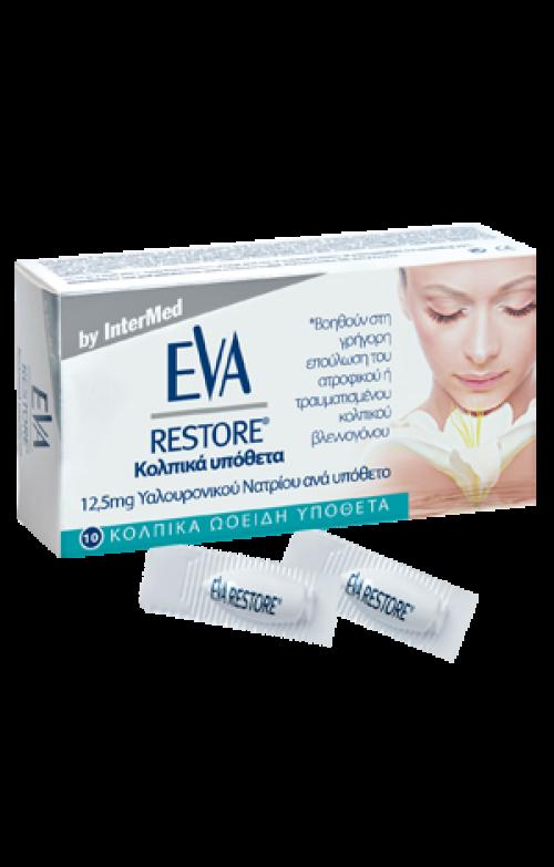 Eva Restore Ovules Κολπικά υπόθετα με υαλουρονικό οξύ 10 ΚΟΛΠΙΚΑ ΩΟΕΙΔΗ ΥΠΟΘΕΤΑ