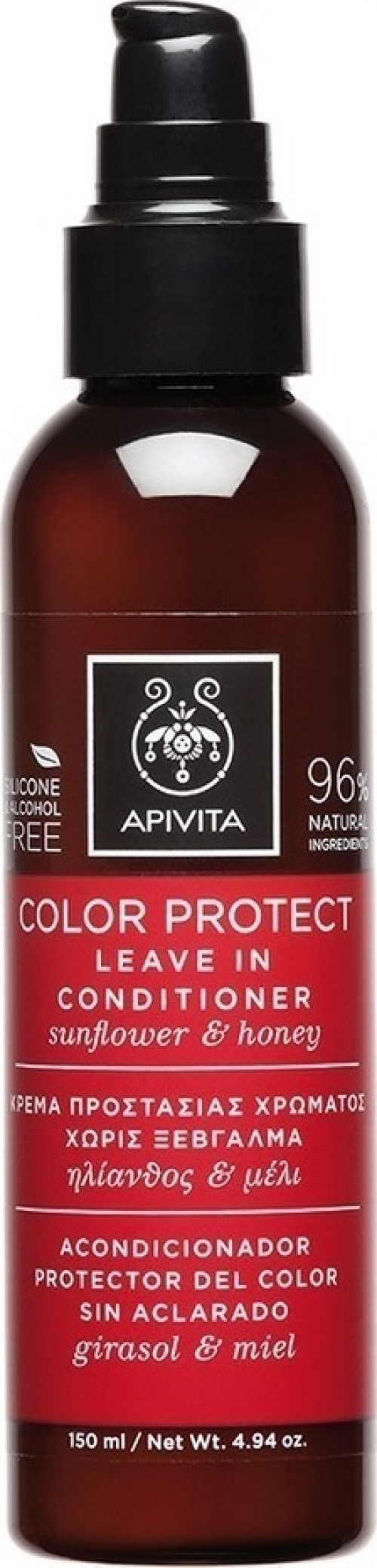 Colour Protect Leave in Conditioner Κρέμα Προστασίας Χρώματος χωρίς Ξέβγαλμα, για Βαμμένα Μαλλιά με Ηλίανθο & Μέλι, 150ml