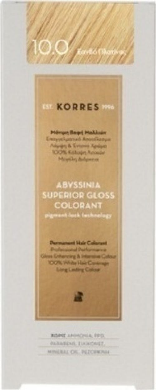 Korres Abyssinia Superior Gloss Colorant 10.0 Ξανθό Πλατίνας 50ml