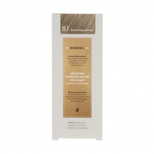 Abyssinia Superior Gloss Colorant 8.1 Ξανθό Ανοιχτό Σαντρέ 50ml