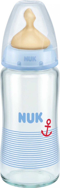 Nuk First Choice+ Μπιμπερό Γυάλινο Άγκυρα, Θηλή Latex 240ml