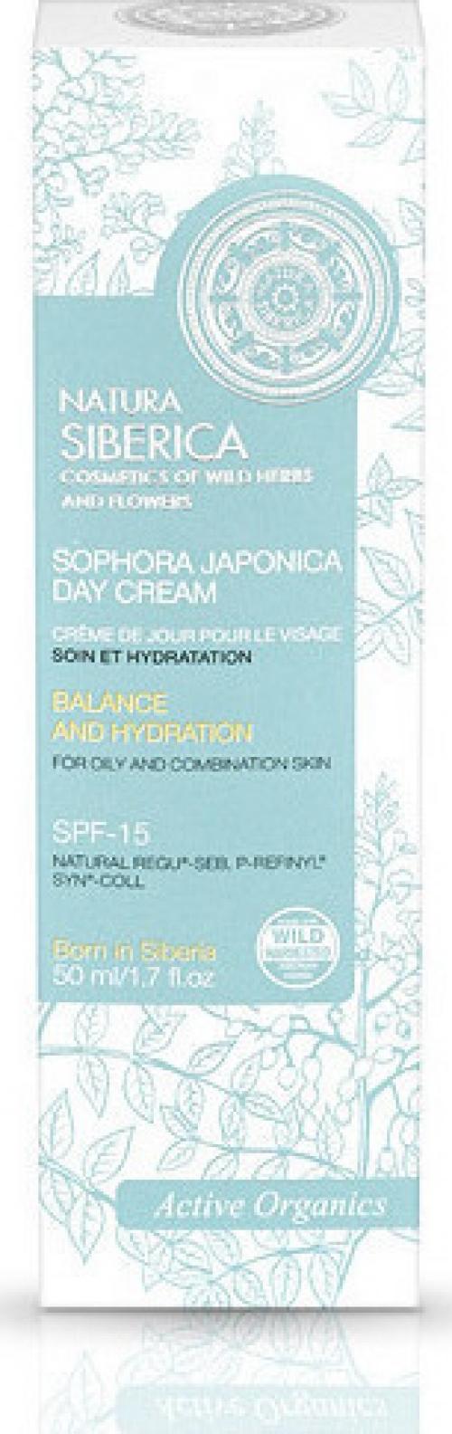 Sophora Japonica Day Cream, Εξισορρόπηση και Ενυδάτωση, για λιπαρά και μικτά δέρματα, με αντιηλιακή προστασία SPF-15, 50 ml (Κατάλληλο για ηλικίες 22+)