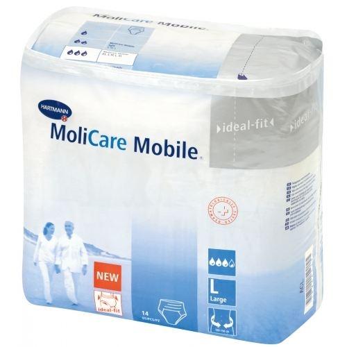 Hartmann MoliCare Mobile - Large,14 τμχ : Σλιπ ακράτειας  για μέτρια έως σοβαρή ακράτεια ούρων ή / και κοπράνων.