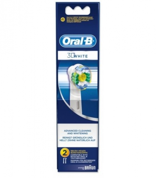 ORAL-B VITALITY 3D WHITE ΑΝΤΑΛΛΑΚΤΙΚΑ 2 ΤΜΧ  Ανταλλακτικά βουρτσάκια Oral-B για ηλεκτρικές οδοντόβουρτσες.