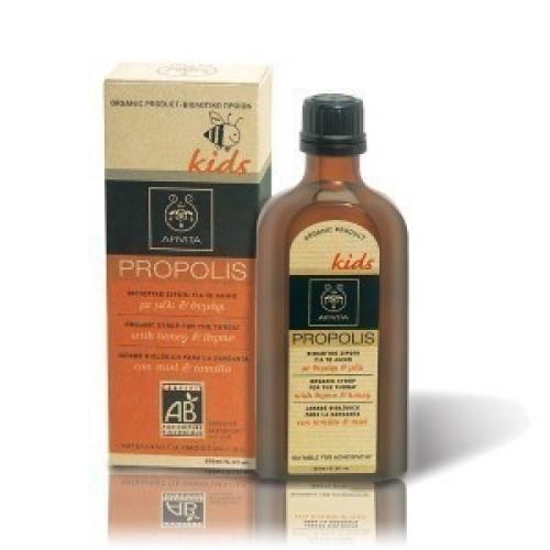 Propolis Παιδικό Βιολογικό Σιρόπι για το Λαιμό με Μέλι & Θυμάρι 150ml