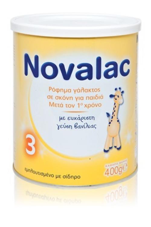 Novalac Γάλα 3 400gr Καθημερινή διατροφή για παιδια΄πό 1 έως 3 ετών