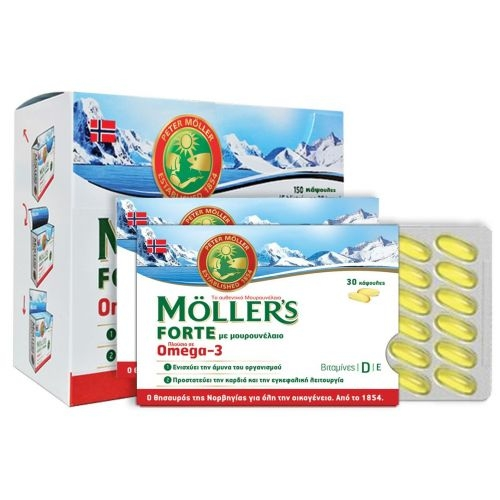 Moller's Μουρουνέλαιο  Forte Omega-3 150 Κάψουλες