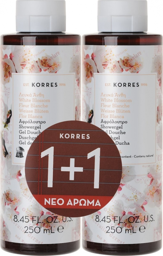 Korres Set Αφρόλουτρο Λευκά Άνθη 2x 250ml