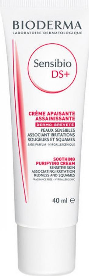 Bioderma Sensibio Ds+ Cream, Κρέμα Περιποίησης για Επιδερμίδες με Λιπαρότητα και Απολέπιση, 40ml