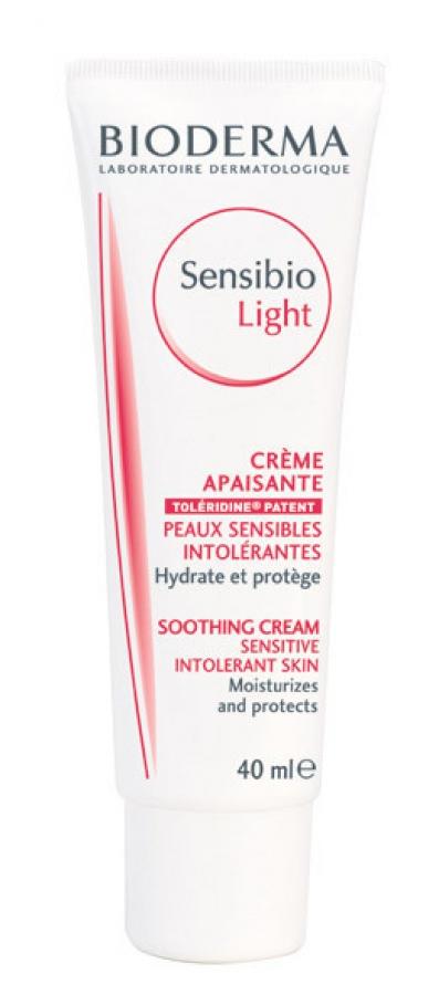 Bioderma Sensibio Light Cream, Ενυδατική & Καταπραϋντική Κρέμα Ελαφριάς Υφής για το Ευαίσθητο και Δυσανεκτικό Δέρμα, 40ml