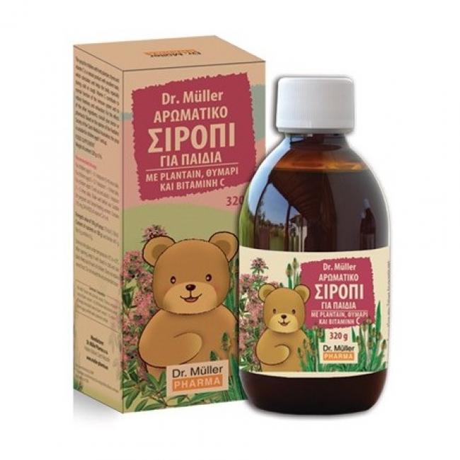 Dr. Muller Αρωματικό Σιρόπι για Παιδιά με Plantain, Θυμάρι & Βιταμίνη C 320gr