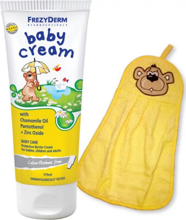 Frezyderm Baby Cream 175ml & Βαμβακερή Πετσέτα Αρκουδάκι