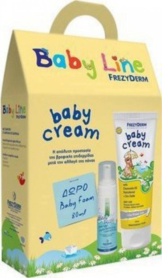 Frezyderm Baby Cream - Προστατευτική Κρέμα Αλλαγής Πάνας 175ml & ΔΩΡΟ Baby Foam, 80ml