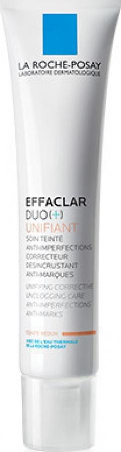 La Roche Posay Effaclar Duo + Unifiant Medium Απόχρωση, για Ατέλειες & Χρωματικά Σημάδια 40ml