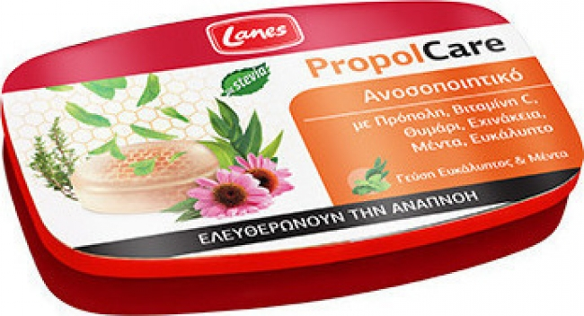 Lanes PropolCare Καραμέλες Ευκάλυπτος & Μέντα - Ελευθερώνουν την αναπνοή, 54gr