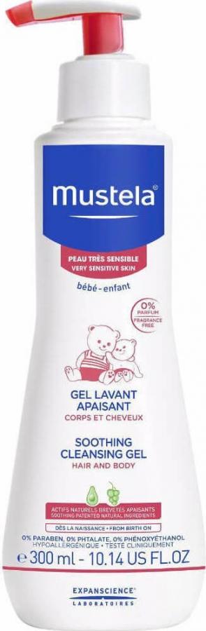 Mustela – Καθαριστικό Gel για Μαλλιά και Σώμα με Καταπραϋντική Δράση 300ml