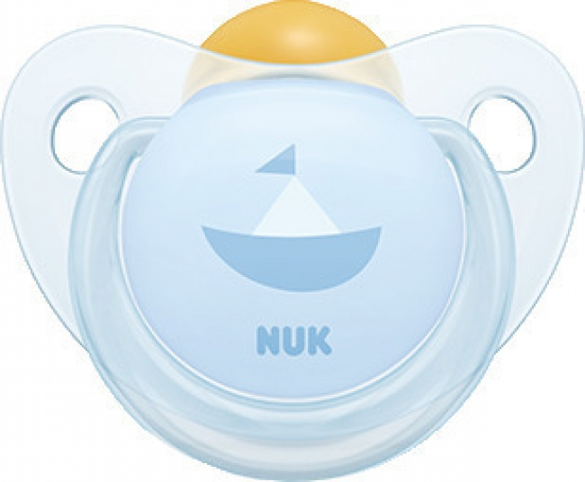 Nuk Baby Rose & Blue Καραβάκι Καουτσούκ Μπλε 6-18m 1τμχ