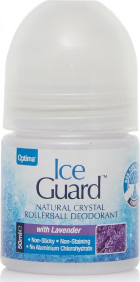 Optima Naturals Ice Guard Natural Crystal Deo Lavender 50ml