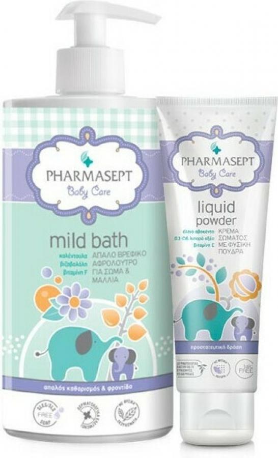 Pharmasept Baby Mild Bath & Baby Liquid Powder 1150ml