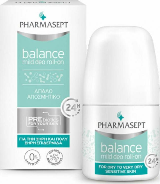 Pharmasept Balance Mild Deo 24h για Ξηρές Επιδερμίδες Roll-On 50ml