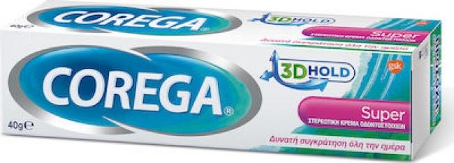 Προσθήκη στη Σύγκριση menu Corega 3D Hold Super Κρέμα για Τεχνητή Οδοντοστοιχία με Γεύση Μέντα 40g